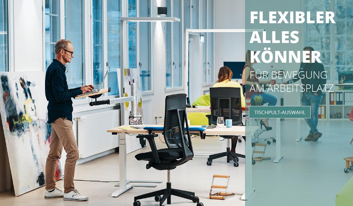 officeplus ergonomie im buero Produkte - Nachruestbare Tischpulte