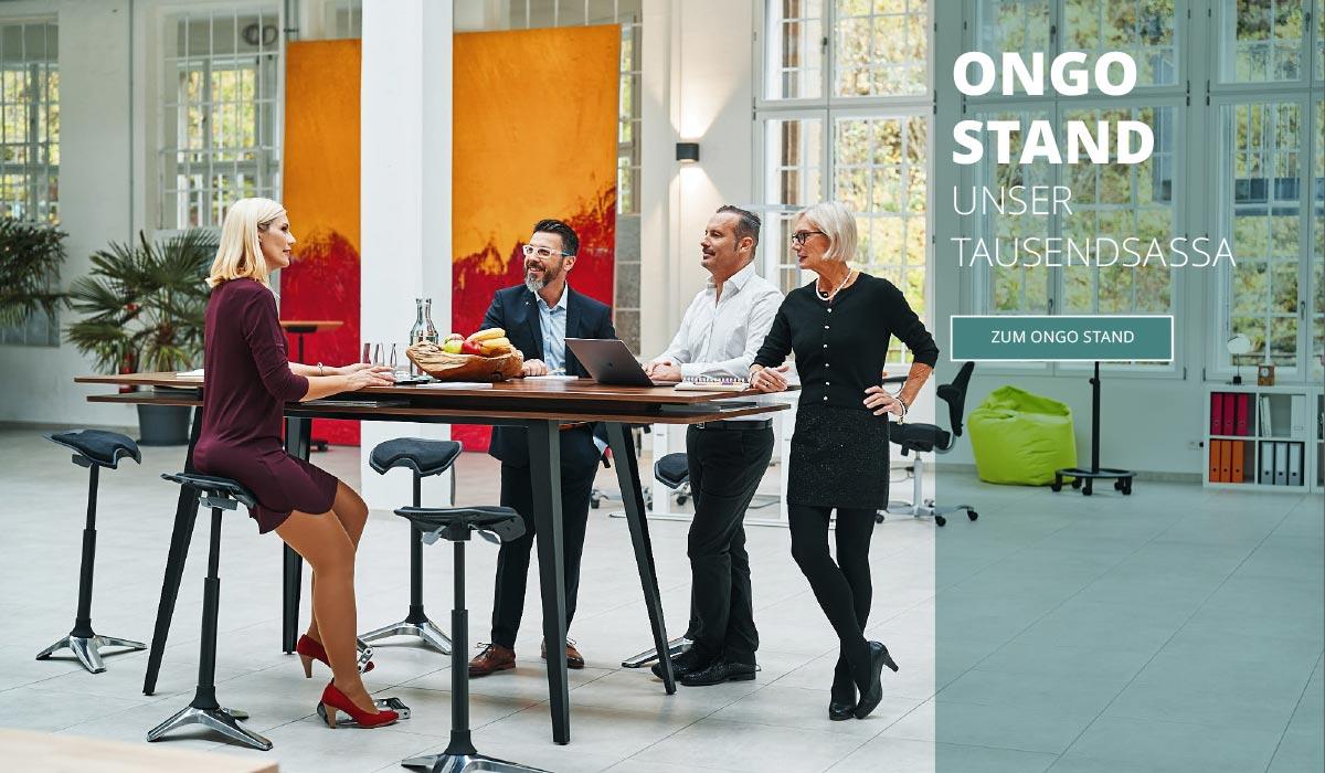 officeplus Ergonomie am Arbeitsplatz - Stehhilfen Ongo Stand