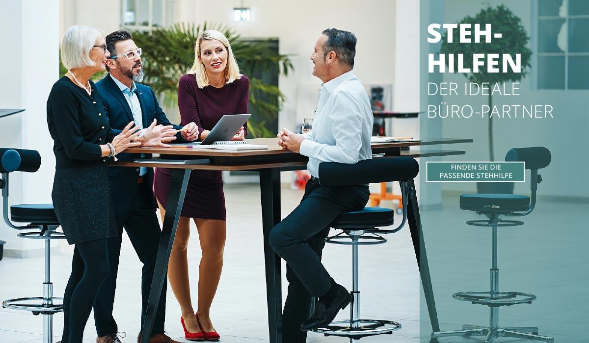 officeplus Produkte - ergonomisches Zuebehoer, ergonomische Stehhilfe und Hocker