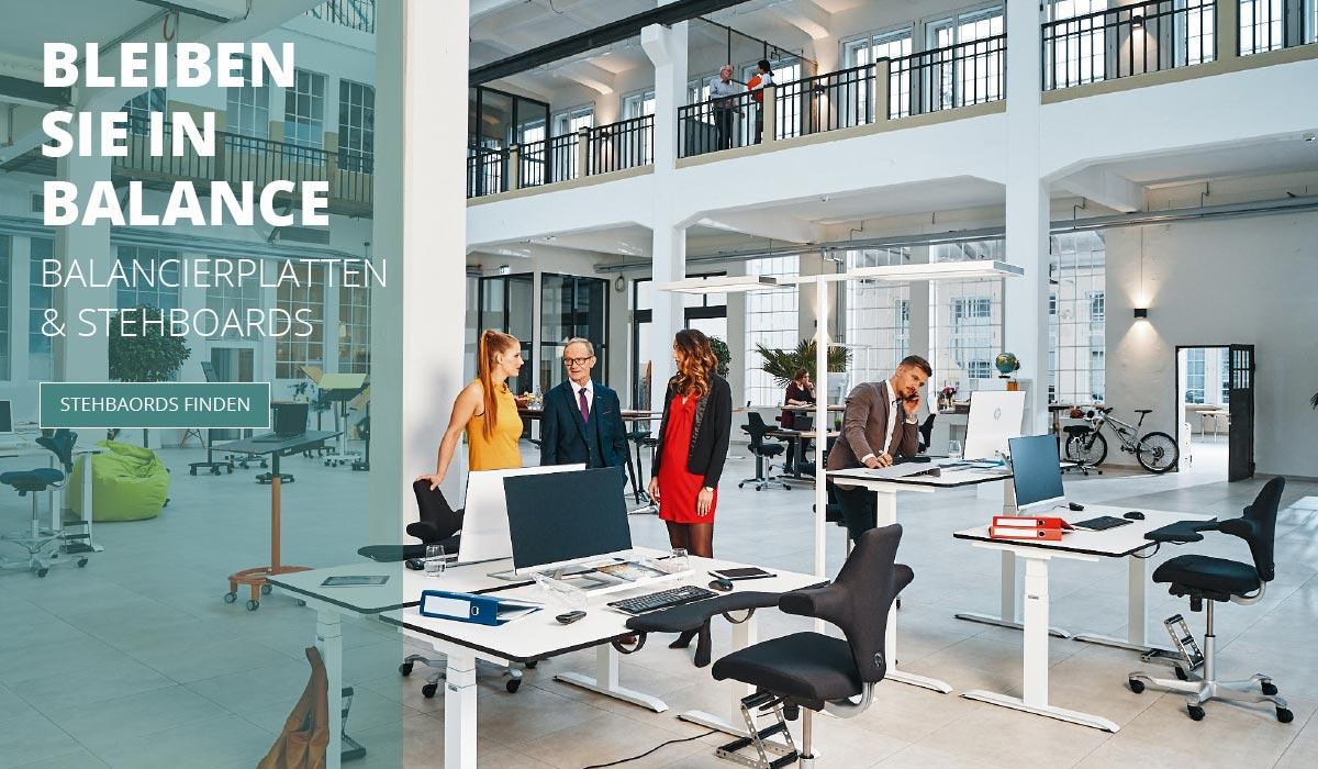 officeplus Produkte - ergonomisches Zuebehoer, ergonomische Balancierplatte, Stehboard
