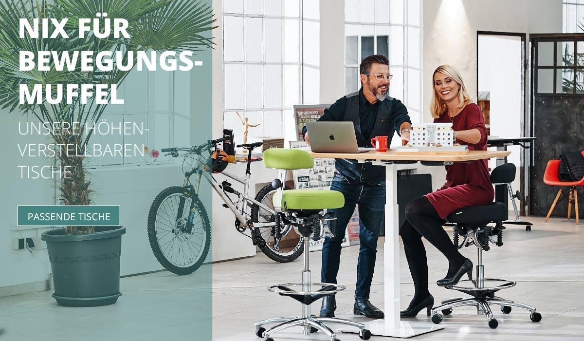 officeplus ergonomie im buero Produkte - hoehenverstellbare Tische