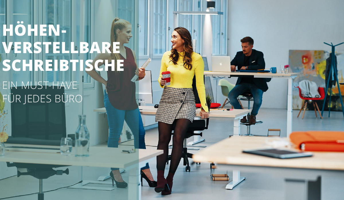 officeplus ergonomie im buero Produkte hoehenverstellbare Schreibtische