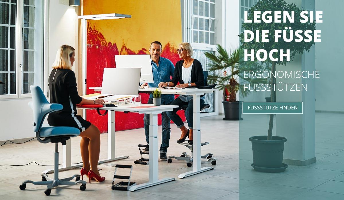 officeplus Produkte - ergonomisches Zuebehoer, ergonomische Fussstuetze
